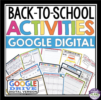 BACK TO SCHOOL DIGITAL ACTIVITIES AND ASSIGNMENTS (GOOGLE DRIVE)