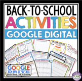 BACK TO SCHOOL DIGITAL ACTIVITIES AND ASSIGNMENTS (GOOGLE)