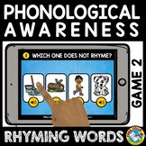 BACK TO SCHOOL DISTANCE LEARN RHYMING BOOM CARDS PHONOLOGI