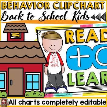 BACK TO SCHOOL EDITABLE BEHAVIOR MANAGEMENT CLIP CHART {KIDS & ICE-CREAM COLORS}