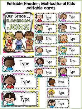 BACK TO SCHOOL - EDITABLE CLASSROOM JOBS AND NAME LABELS{ICE-CREAM CHEVRON}