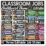 CHALKBOARD CLASS DECOR-EDITABLE CLASSROOM JOBS