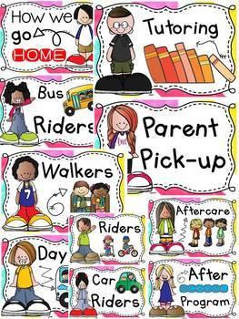 BACK TO SCHOOL EDITABLE DISMISSAL CHART {ice-cream chevron colors} CLASS DECOR