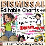 BACK TO SCHOOL CLASS DECOR: EDITABLE DISMISSAL CHARTS