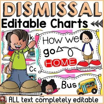 BACK TO SCHOOL EDITABLE DISMISSAL CHART {ice-cream chevron