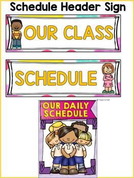 BACK TO SCHOOL - EDITABLE SCHEDULE CARDS {Kids & Ice-cream chevron} CLASS DECOR