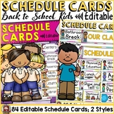 BACK TO SCHOOL - EDITABLE SCHEDULE CARDS {Kids & Ice-cream chevron} CLASS DECOR