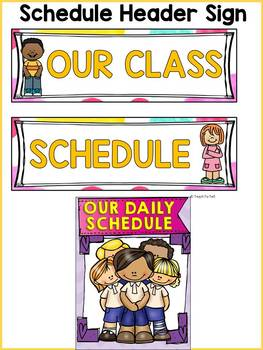 BACK TO SCHOOL KIDS CLASS DECOR: EDITABLE SCHEDULE CARDS by Teach ...