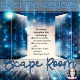 BACK TO SCHOOL ESCAPE ROOM (ANY SUBJECT AREA)