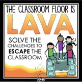 HALLOWEEN ESCAPE ROOM TEAM BUILDER: THE CLASSROOM FLOOR IS LAVA