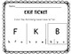BACK TO SCHOOL EXIT TICKETS FOR KINDERGARTEN