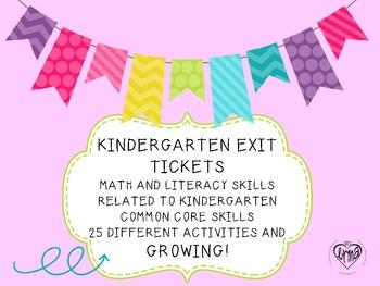 BACK TO SCHOOL EXIT TICKETS FOR KINDERGARTEN