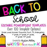 BACK TO SCHOOL PowerPoint Presentation Editable Templates
