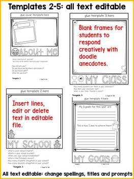 BACK TO SCHOOL: FIRST DAY: BLANK FACES EDITABLE FLIPBOOK