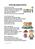 BACK TO SCHOOL - FIRST DAY OF SCHOOL NERVES - ORIGINAL POEM