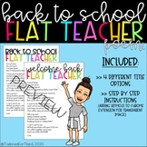 UPDATED *EDITABLE* BACK TO SCHOOL FLAT TEACHER POEM WITH B