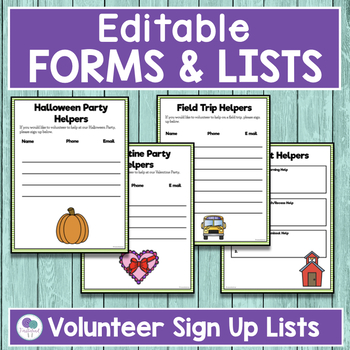 BACK TO SCHOOL FORMS AND LISTS School Kids Theme