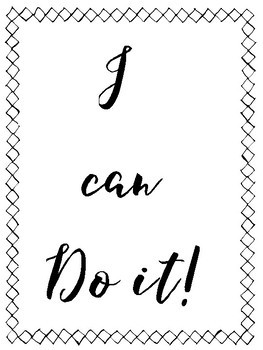 YOU CAN DO IT! & I CAN DO IT! -  FREE POSTERS ENCOURAGING STUDENTS