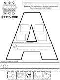 BACK TO SCHOOL FREEBIE ABC Bootcamp Sort 'N Write