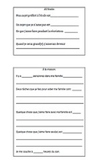 BACK TO SCHOOL ALL ABOUT ME PROJECT templates writing oral Core French Immersion