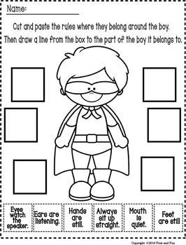 BACK TO SCHOOL FUN SUPERHERO BEHAVIOR POSTER SET AND ACTIVITY
