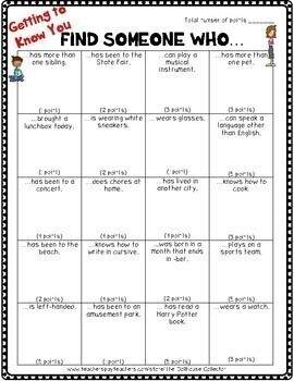 """BACK TO SCHOOL """"Find Someone Who..."""" Activity Bundle - 3 Themed Activities"""