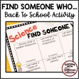 """BACK TO SCHOOL """"Find Someone Who..."""" Activity - SCIENCE"""