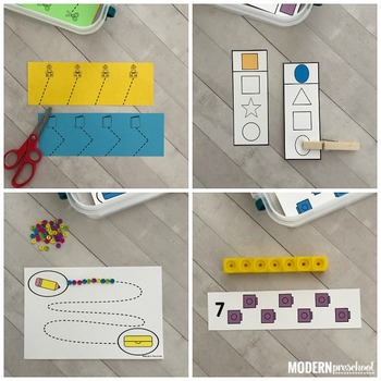BACK TO SCHOOL Fine Motor Busy Bins (morning work tubs) for Preschool, Pre-K