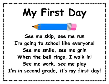 BACK TO SCHOOL - First Homework Assignment for 2nd Grade!