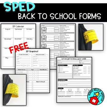BACK TO SCHOOL Forms for special education
