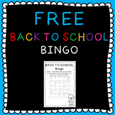 BACK TO SCHOOL! Free Introduction activity bingo 2nd-6th grade