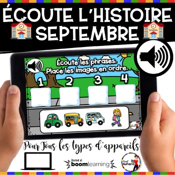 BACK TO SCHOOL French BOOM card - Écoute les phrases.  (SEPTEMBRE : Jeu 5)