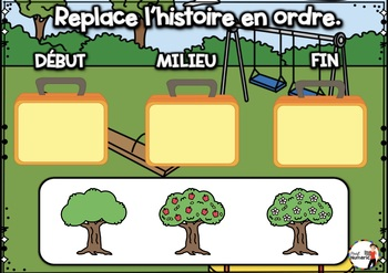 BACK TO SCHOOL French BOOM card-Replace l'histoire en ordre. (SEPTEMBRE : Jeu 4)