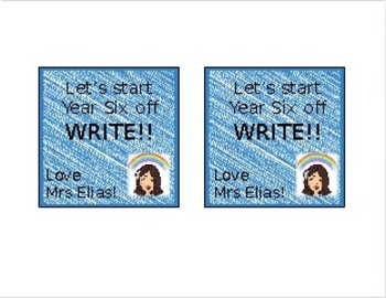 BACK TO SCHOOL GIFT TAGS - 'Let's Start the Year off WRITE'
