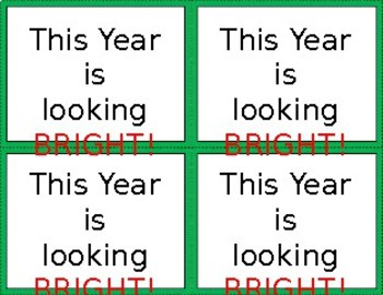 BACK TO SCHOOL GIFT TAGS - 'This year is looking BRIGHT'