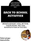 BACK TO SCHOOL GOAL, GROW, AND GLOW ACTIVITIES FOR MIDDLE