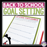 BACK TO SCHOOL GOAL SETTING ACTIVITY