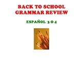 BACK TO SCHOOL GRAMMAR REVIEW