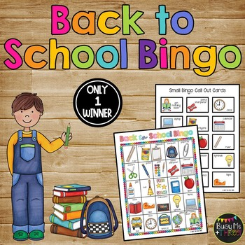 BACK TO SCHOOL Game {25 Different Bingo Cards}