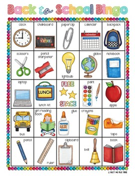 Refreshing image regarding back to school bingo printable