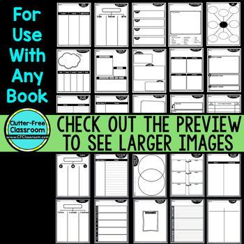 BACK TO SCHOOL  Graphic Organizers for Reading Reading Graphic Organizers