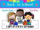 BACK TO SCHOOL HATS FIRST GRADE / CROWNS