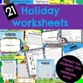 BACK TO SCHOOL HOLIDAY WORKSHEET PACK
