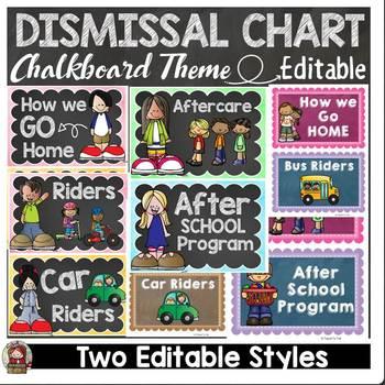 BACK TO SCHOOL HOW DO WE GO HOME DISMISSAL EDITABLE CHART