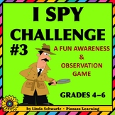 I SPY CHALLENGE #3 • Awareness & Observation Skills
