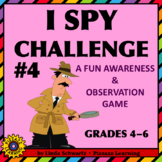 NEW! BACK-TO-SCHOOL • I SPY CHALLENGE #4 • Awareness & Observation Skills