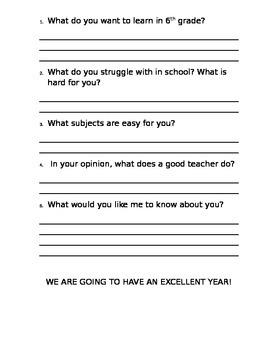 "BACK TO SCHOOL INTERVIEW ""WILD INFORMATION"" 6th grade"