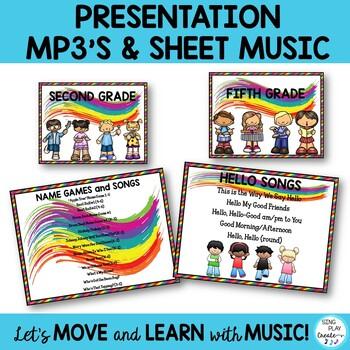 Music Class Essentials Bundle: Songs,Chants,Games, Mp3's, Decor, Lessons