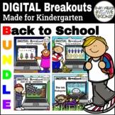 BACK TO SCHOOL Kindergarten Virtual Escape Room Games Digi
