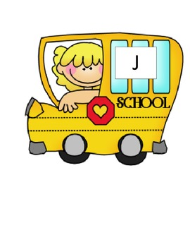 BACK TO SCHOOL- Letter Bus : J-R